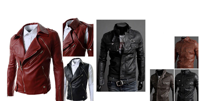 Top 10 Hot New Men Leather Jackets & Coats