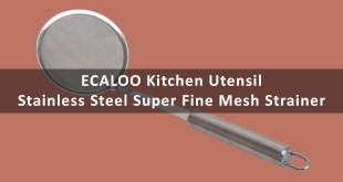 ECALOO Kitchen Utensil Stainless Steel Super Fine Mesh Strainer – Review