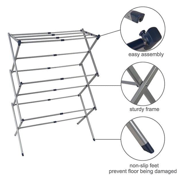 The Drynatural Drying Rack Expandable 3-Tier Clothes Airer Review - 1