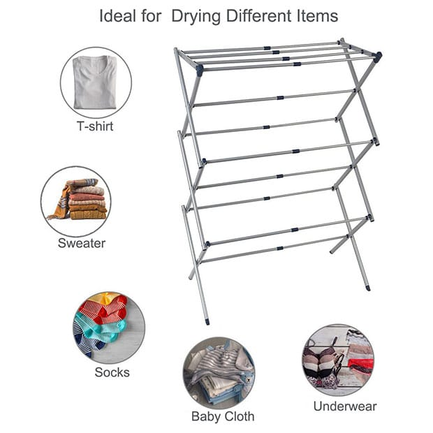 The Drynatural Drying Rack Expandable 3-Tier Clothes Airer Review - 5