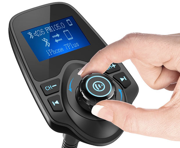 Nulaxy KM18 Car Bluetooth FM Wireless Transmitter - 2