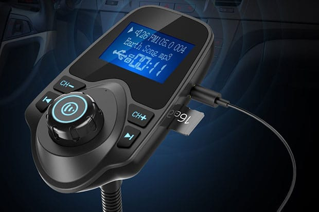Nulaxy KM18 Car Bluetooth FM Wireless Transmitter - 4