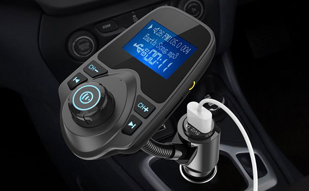 Nulaxy KM18 Car Bluetooth FM Wireless Transmitter - 5