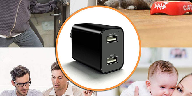 CIXI Dual USB Charger Spy Camera