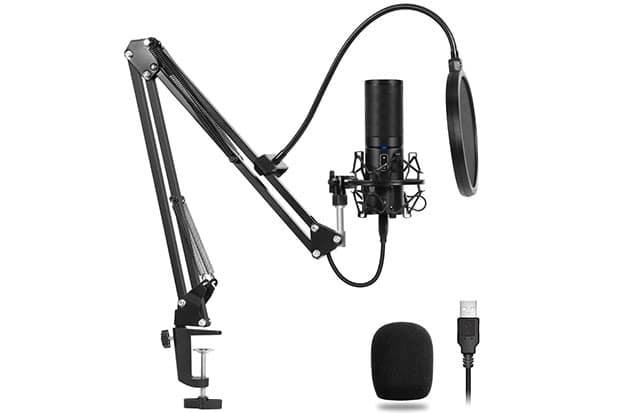 TONOR Q9 USB Microphone Kit - 1