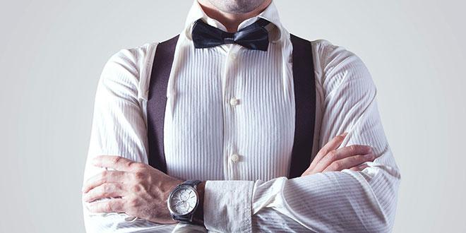 man-shirt-bow-tie-suspender-appareal-fashion-watch