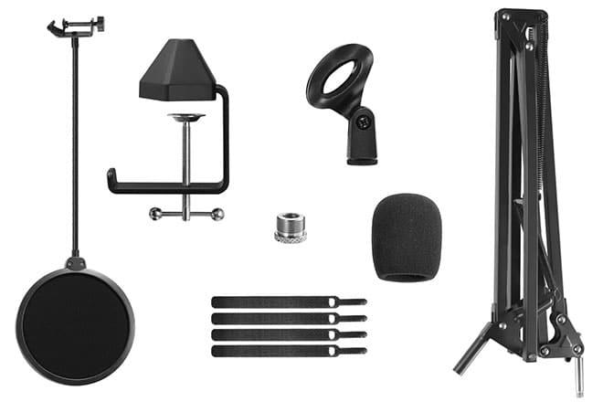 TONOR T20 Microphone Suspension Scissor Arm Stand - 3