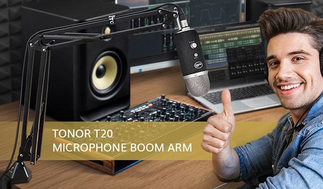 TONOR T20 Microphone Suspension Scissor Arm Stand - 7