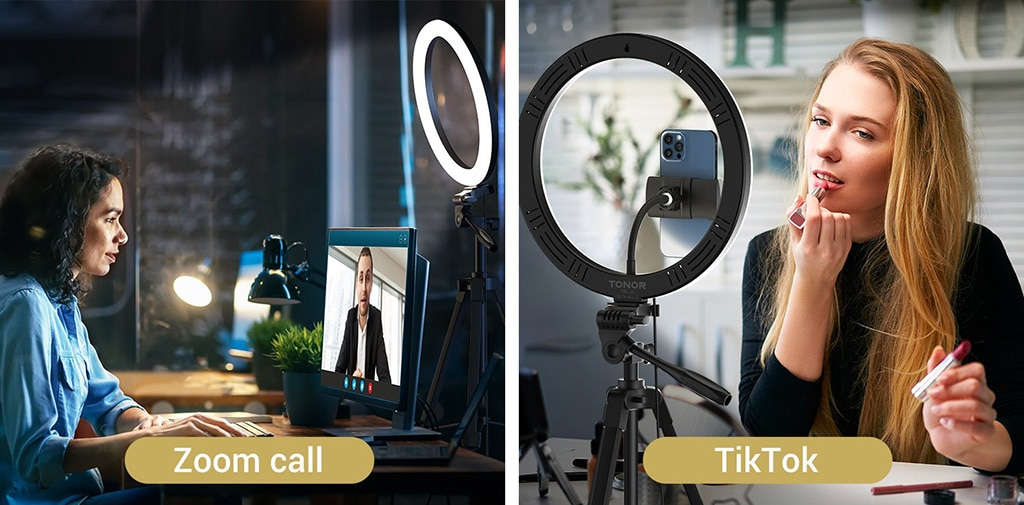 Zoom Call and TikTok Video